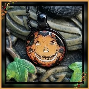 New! Pumpkin, bats, witches oh my Necklace